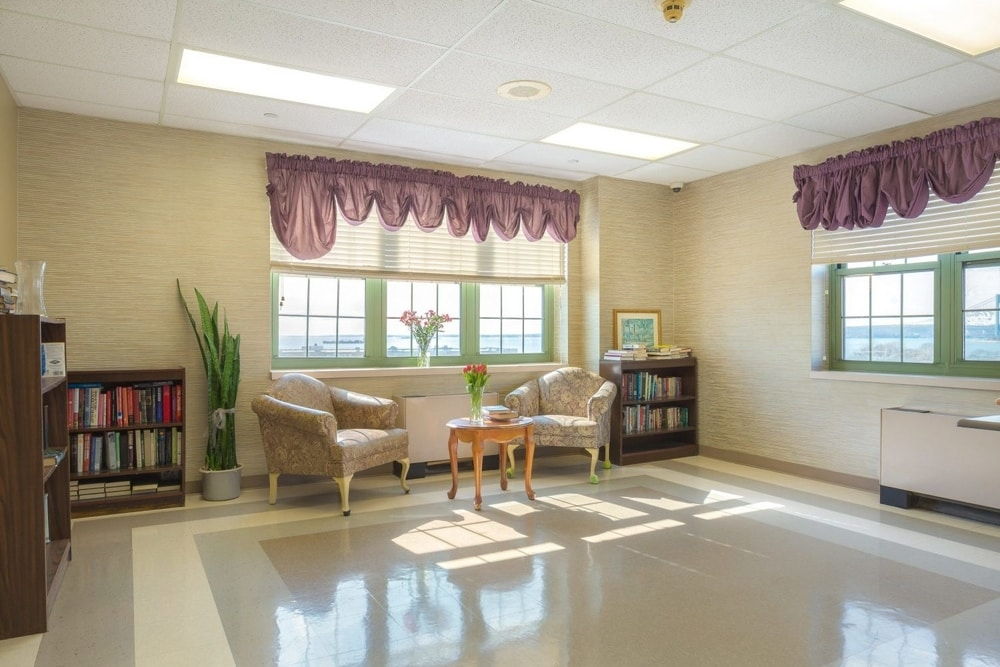 Nursing rehabilitation rooms reading area Brooklyn New York NY