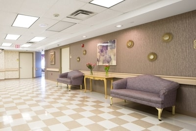 Haym Salomon Home Nursing rehabilitation rehab rooms waiting area Brooklyn New York NY