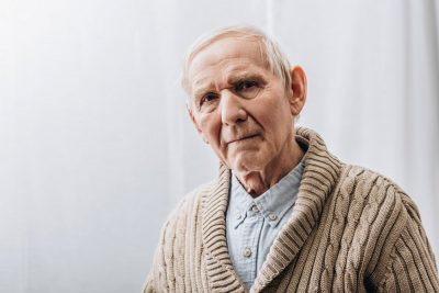 An elderly patient suffering from dementia which also affected his speech and language.