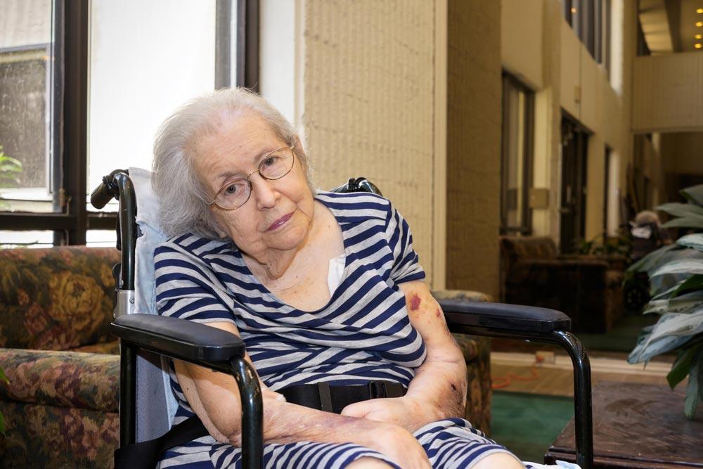 Elderly women recovering/regaining her speech after a stroke