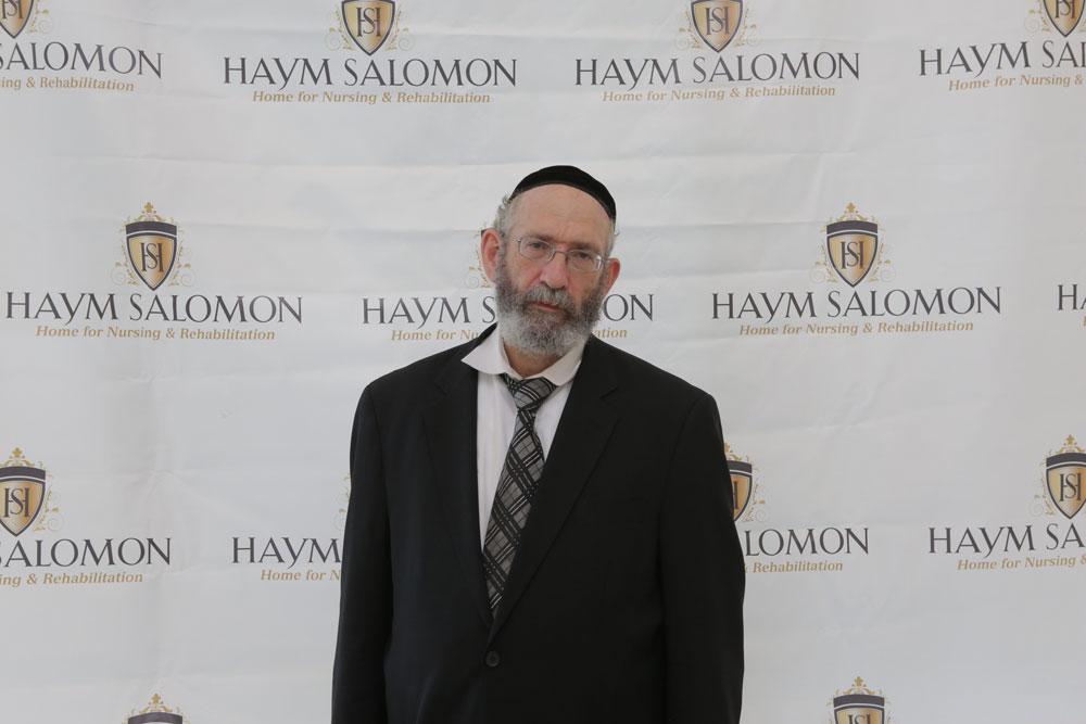 Spiritual and Religious man portrait on Haym Salomon Home background